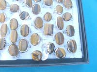 Fashion tiger eye gemstone rings