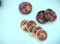 Batik art with rattan wrap around coaster