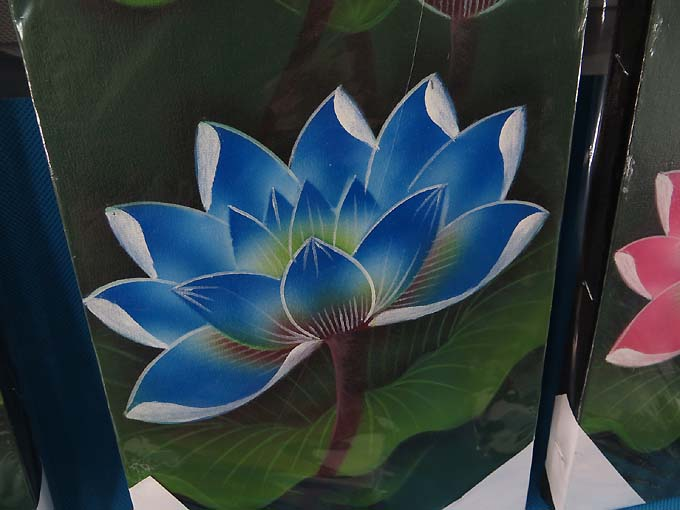 Lotus Flower Oil Painting Canvas 1m