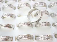 wholesale spinner rings, silver plated thin spinner spinning rings