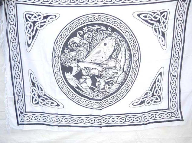 Black and White Celtic Fairy Sarong