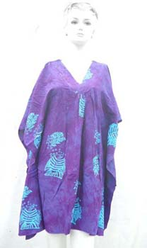 Loose lady summer fashion kaftan dress with pintuck detail at front style design