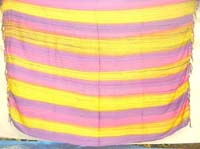 Rainbow tie dye strips wrapping dress