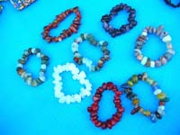 Fashion beaded bracelet made with multi colored agate stones