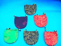 Crafted chinese silk pouch for jewelry
