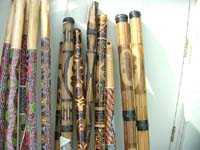 Long bamboo rainstick with bali art motif