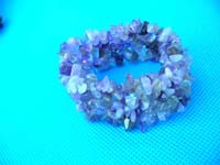 Amethyst bracelet in purple colors with wide band