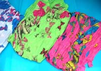 crinkle light shawl wrap scarves in butterfly designs