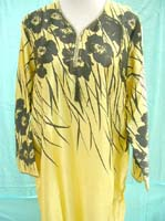 silky satin nightdress pullover, sleepwear tuni kaftan with sleeves