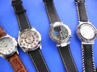 Enening fashion watches with imitation leather bands
