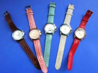 Ladies casual wear watch with colored band