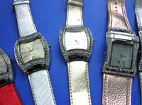 Abstract square theme clock frame on leisure wear watch