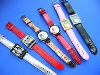 Colorful band on casual accessory watch