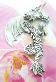 Traditional dragon in flight theme 925. sterling silver pendant