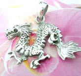 Asian designed dragon 925. sterling silver pendant