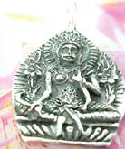 Indonesian buddha figure on sterling silver necklace charm