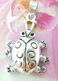 Summer lady bug theme sterling silver necklace charm