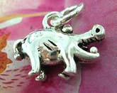 Lucky pig theme sterling silver pendant