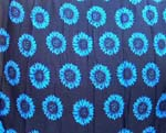 wholesale apparel supplier distribute rayon wrapping long skirt, Blue sunflower design in black background color