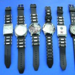 wholesale watches in. Unisex fashion watches with faux leather wrist bands in trendy design.