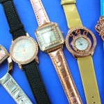 wholesale watch faces. Trend wear copper clock face frame with classic cz gemstones inlaid on ladies stylish watch.