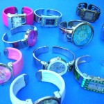 wholesale fashion watches. Ladies evening wear bangle bracelet fashion watch with trendy cz gems.