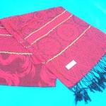 wholesale pashmina. gold-strips-rose-swirl-shawls.