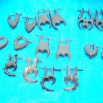 Wholesale organic jewelery. assorted mixed horn peg earrings, randomly picked by our staffs.