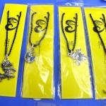 gemstone necklaces. Fine handmade custom gothic pendant on black braid necklace.
