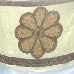 Wholesale Hippie Clothing Sarong. daisy flower brown boarder sarong.