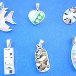 Rings Pendants In Sterling Silver. Pretty fashion dye or tiger seashell pendant, randomly picked by our warehouse staffs.
