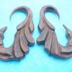 Wholesale organic wood jewelry. wood expander earrings.