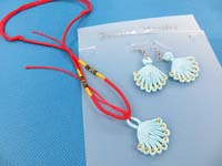 Chinese Handmade Jewelry China Knots Earrings and Pendant Necklace Jewelry Set