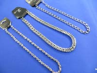 assorted silver tone men's necklace thick chain