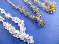 rhinestone beaded necklaces in assorted 3 colors