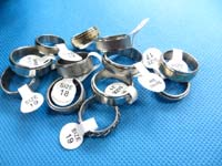 mixed design stainless steel spinning rings