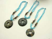 Fashion bali necklace with different hand painting pattern