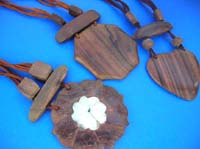 Wooden resin seashell wooden necklace