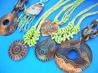 Wooden wax or painting fashion necklace