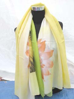 lotus-polyester-scarf-yellow-1a