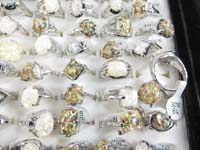 seashell rings assorted