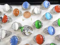 cats eye synthetic stone rings