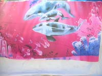 polyester-colorful-printing-scarf-638j-dolphin-sunburst-butterfly