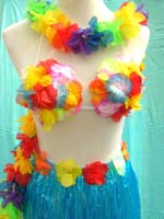 Aloha Hula dancer costume set