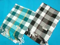 mixed colors unisex keffiyeh scarves, dobby checked oblong khaki Arab scarfs