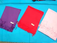 solid color plain pahsmina silk scarves and shawls