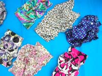 satin neck scarf belt corsage in mixed colors and prints