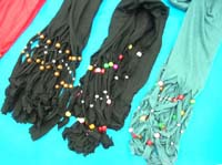 beaded tassel fashion scarf
