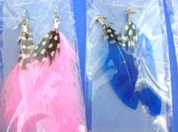 Hot style color feather earrings