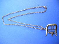Silver charm necklace gift